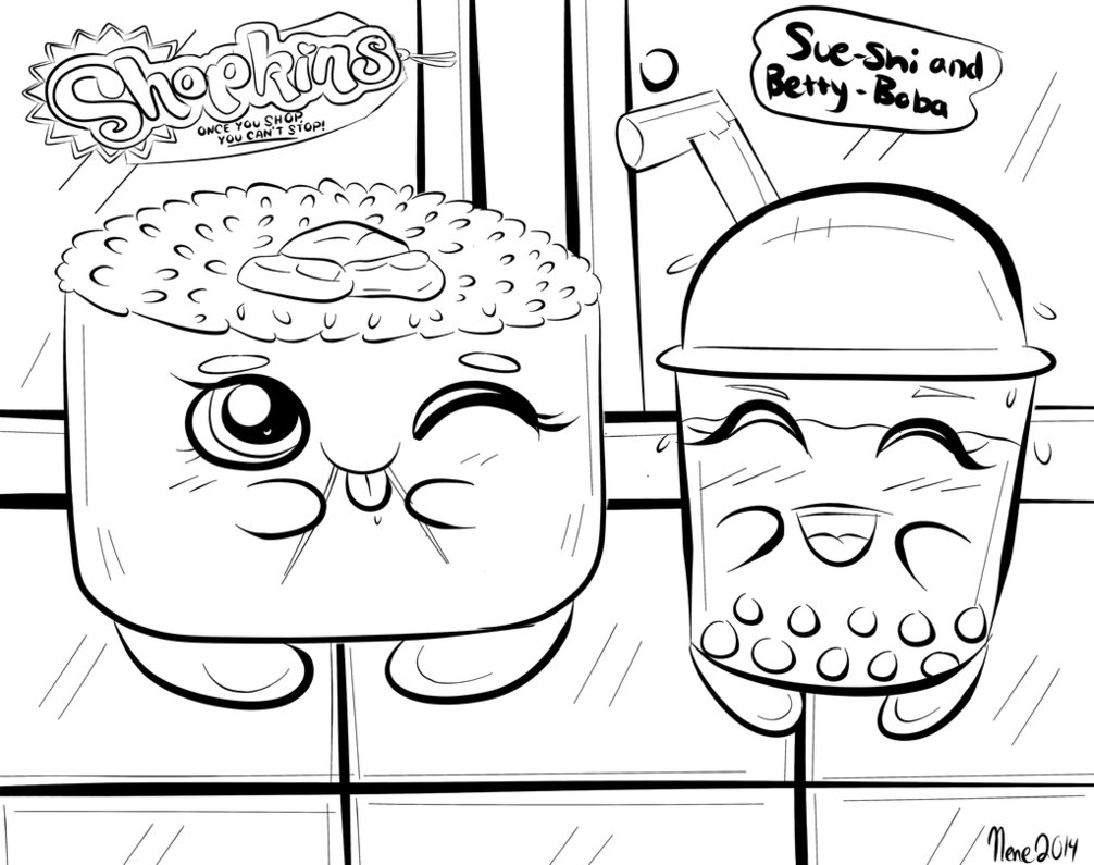 Shopkins Donut Coloring Pages