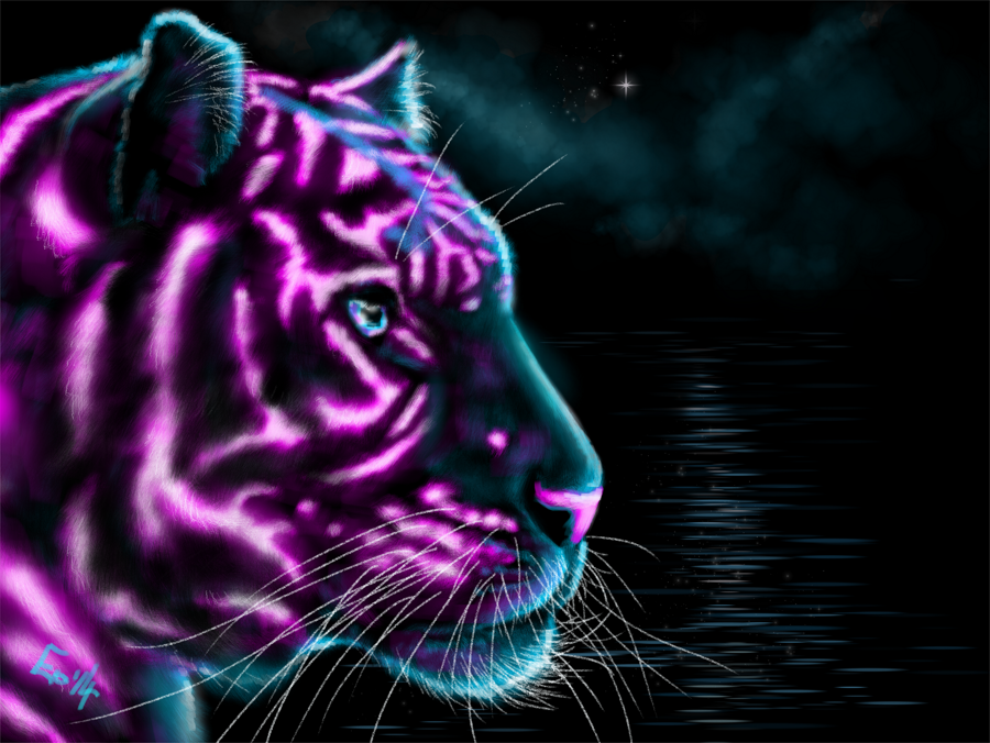 cool neon tigers memes. Black Bedroom Furniture Sets. Home Design Ideas