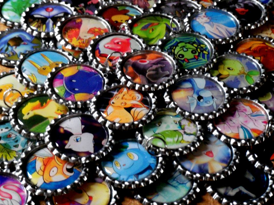 pokemon bottle cap keychains for sale weasyl