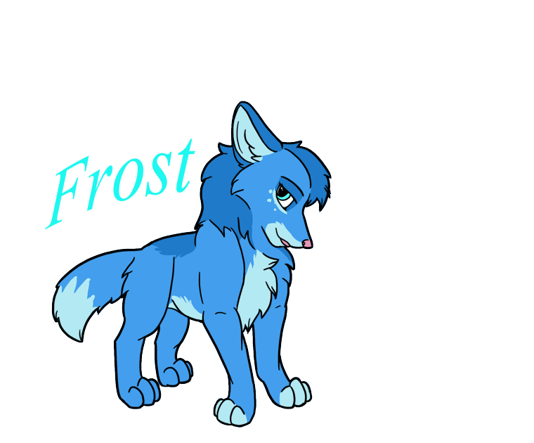 Contest Entry #1--Blue and Chill's Pup