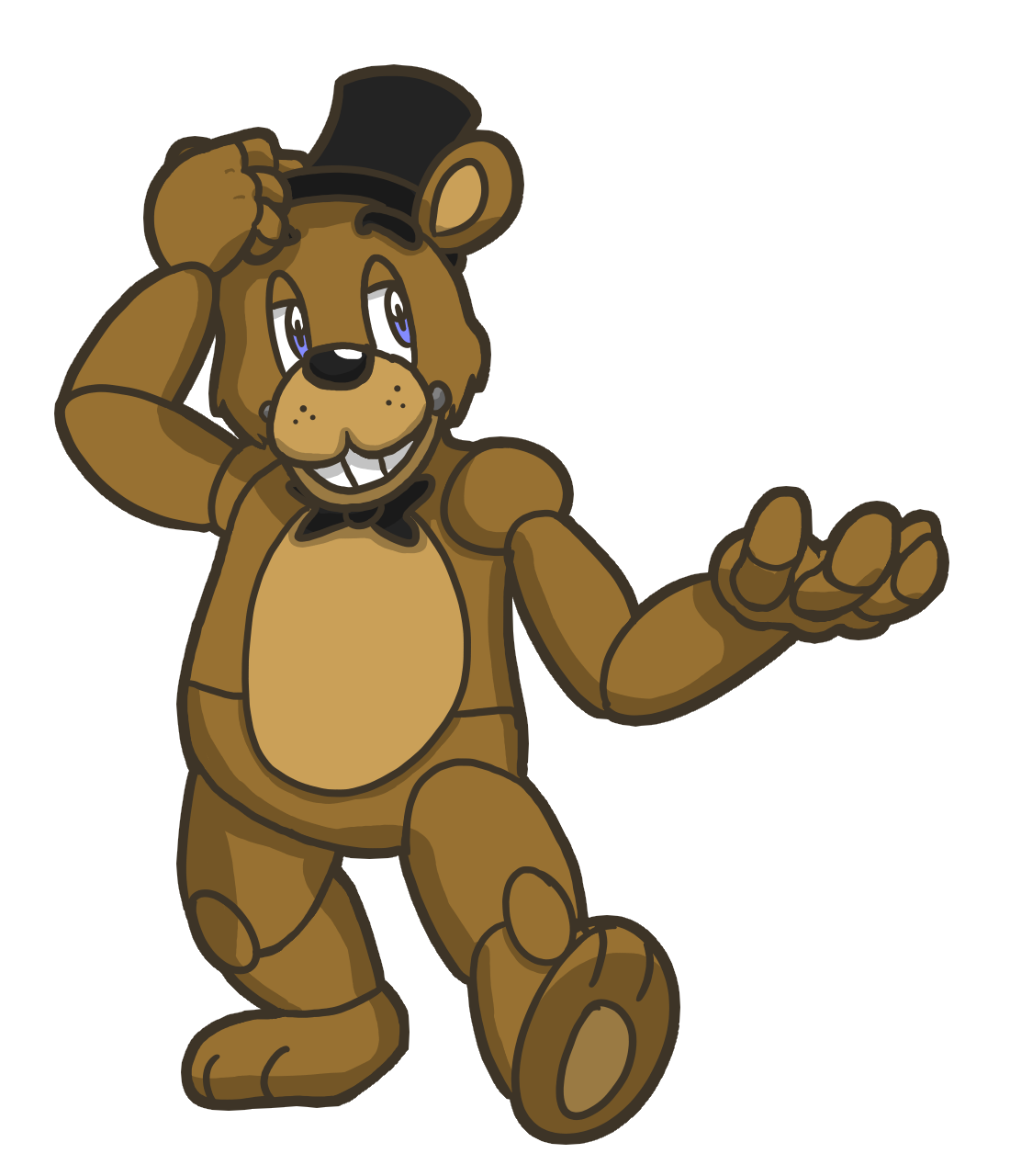 Free coloring pages of freddy fazbear