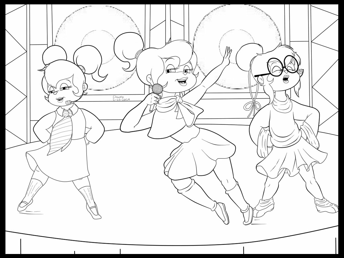 chipette coloring pages this way coloring pages Brittany Chipette Coloring Pages  Chipettes Coloring Pages