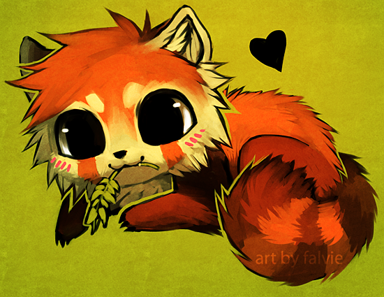 Chibi red panda - photo#11