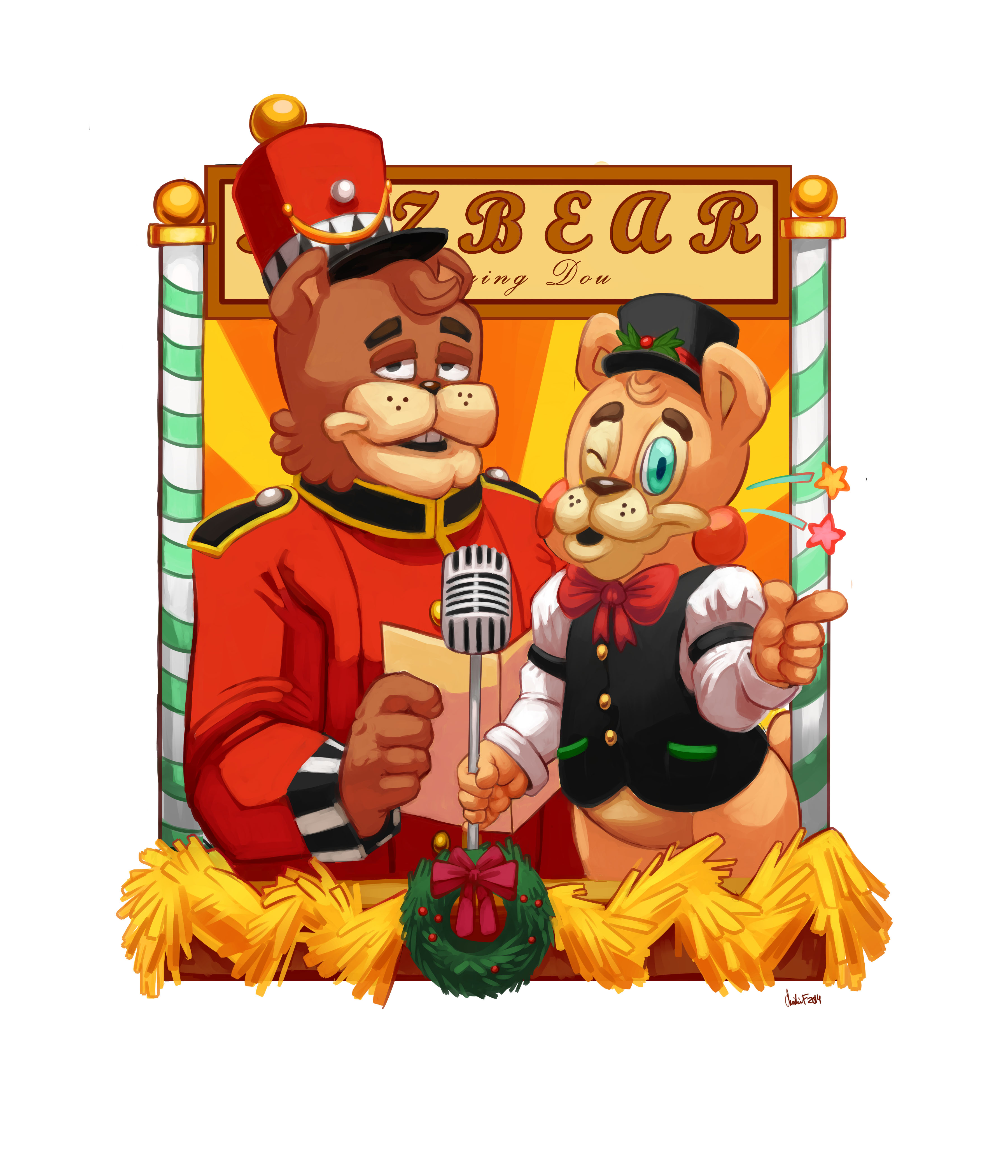 Five night s at freddy s christmas freddy and toy freddy by magic