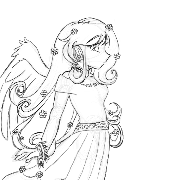 MLP: FlutterShy Human Version -sketch- — Weasyl