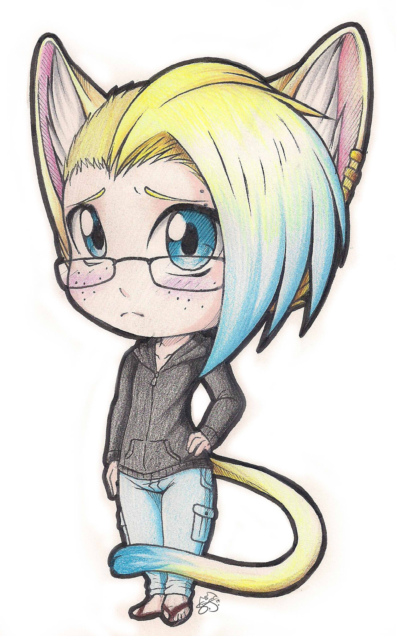 Commish: Neko Boy Chibi — Weasyl