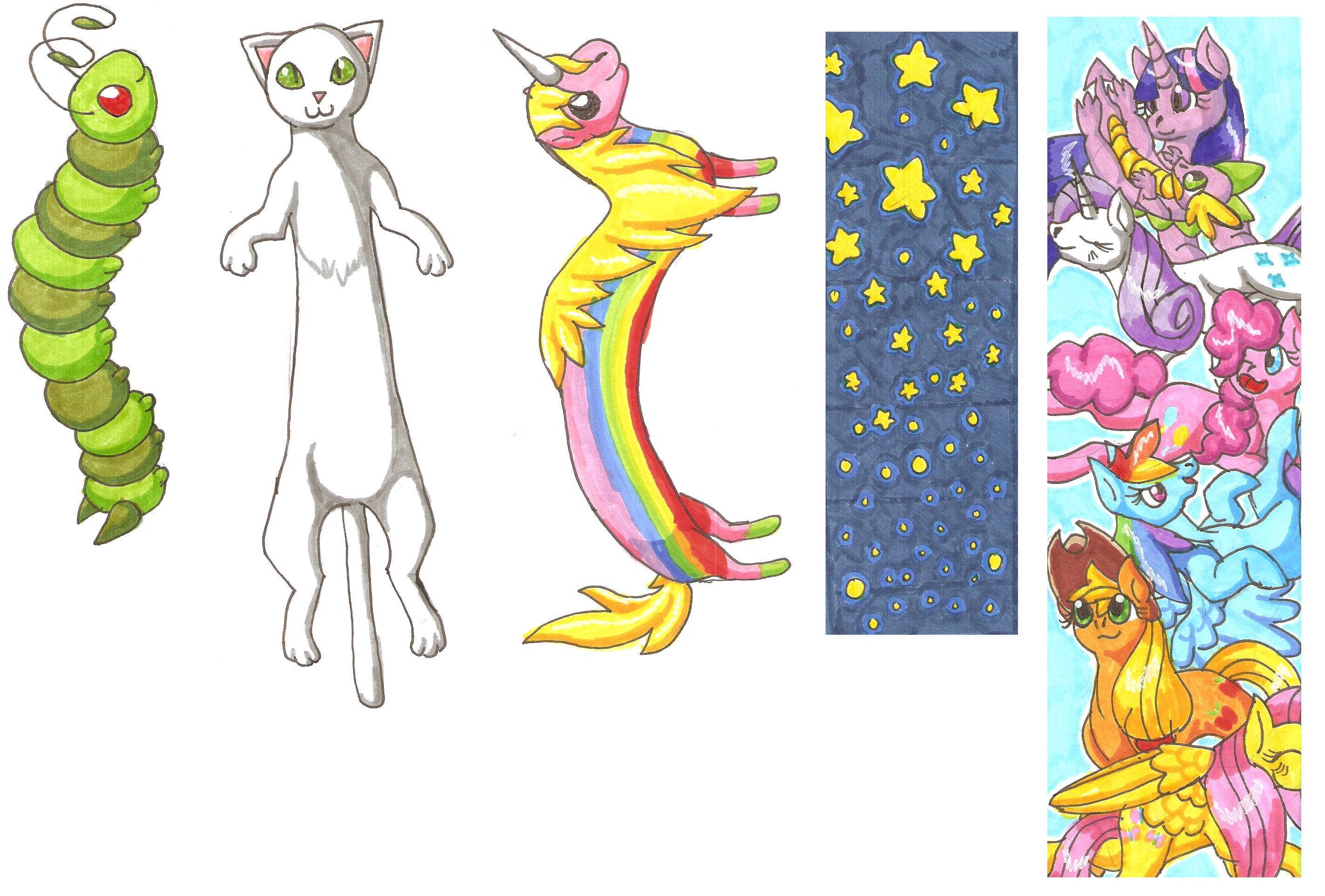 Bookmark Designs By SlightlyWinged critique Requested