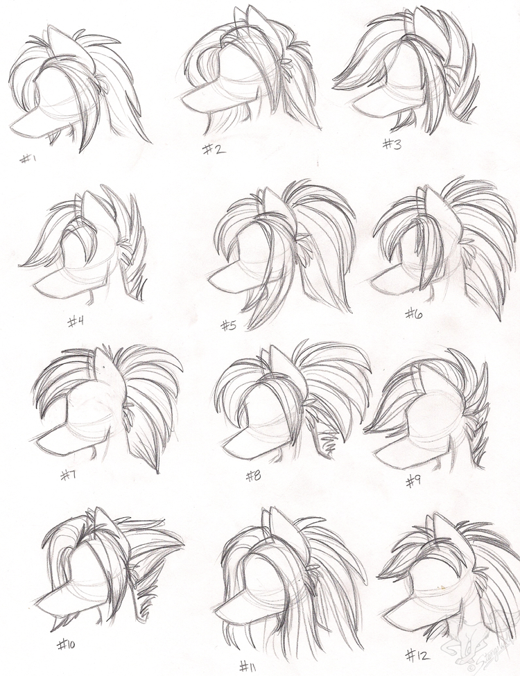Anthro Wolf Female Female anthro wolf hairstyles