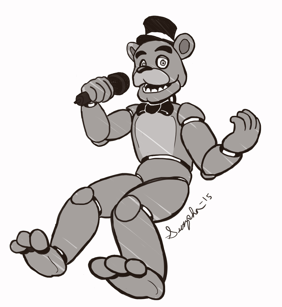 Freddy fazbear pizza colouring pages page 2