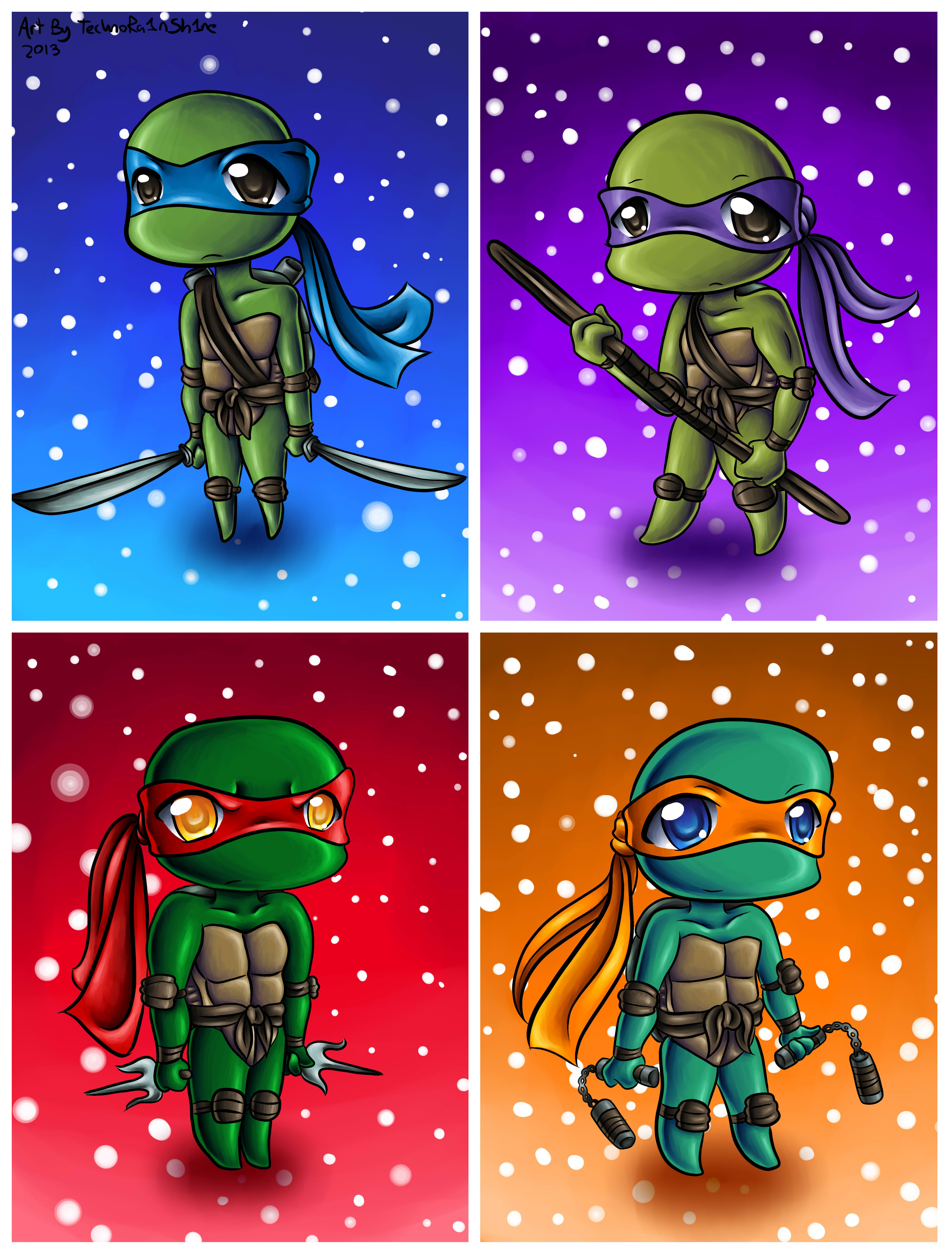 Cute Baby Ninja Turtles Wallpaper
